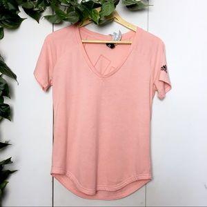 ADIDAS Light Pink Logo Basic T-Shirt